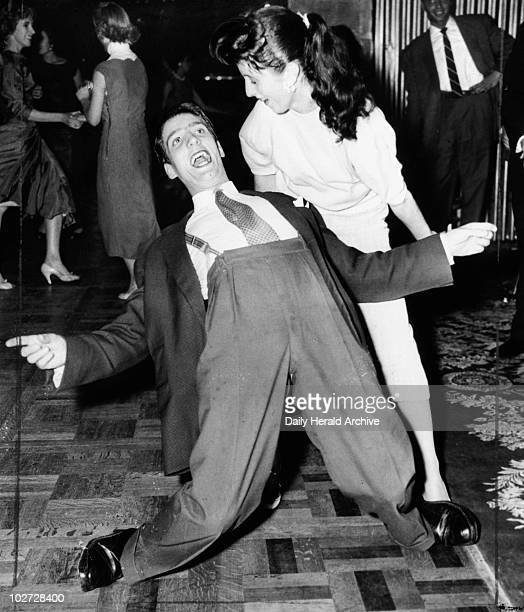 Dancing to Rock 'n' Roll London 18 September 1956 'Barbara Young of North Kensington and Nigel Davies of Edmonton both aged 17 demonstrate a few...