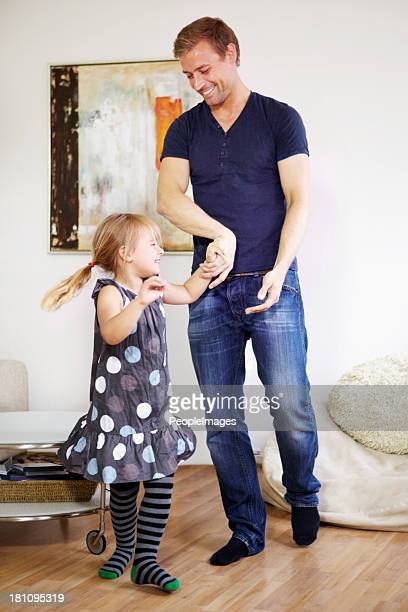 Dancing with her dad