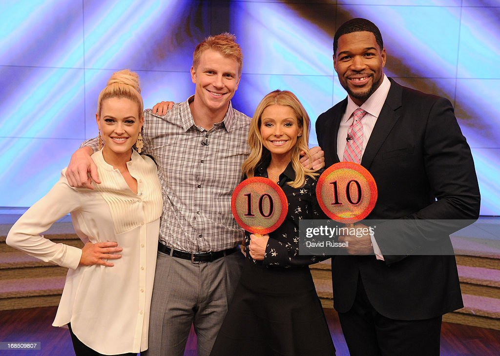 MICHAEL -5/9/13 - 'Dancing with the Stars' cast-offs SEAN LOWE and PETA MURGATROYD stopped by today's 'LIVE with Kelly and Michael' to chat with the hosts and give a special performance of the rumba. PETA