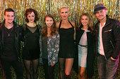 'Dancing with the Stars' Mark Ballas Bindi Irwin Alexa PenaVega and Derek Hough pose with Charlotte Kate Fox as 'Roxie Hart' and AmraFaye Wright as...