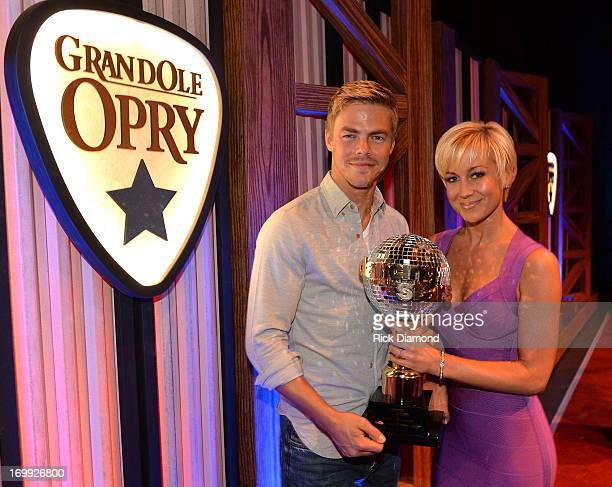 'Dancing With The Stars' Winner Kellie Pickler and Derek Hough attend The Grand Ole Opry on June 4 2013 in Nashville Tennessee