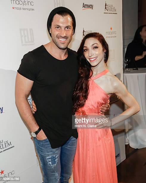 Dancing with the stars winner Maksim Chmerkovshiy and Olympic ice dancing champion/dancing with the stars winner Meryl Davis arrive for The 10th...