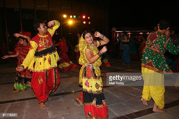 Dandiya dance was organised at DLF mall in Vasant Kunj on the eve of Navratra festival on September 19 2009