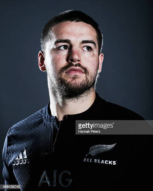 Dane Coles of the All Blacks poses during a New Zealand All Blacks portrait session on October 26 2014 in Auckland New Zealand