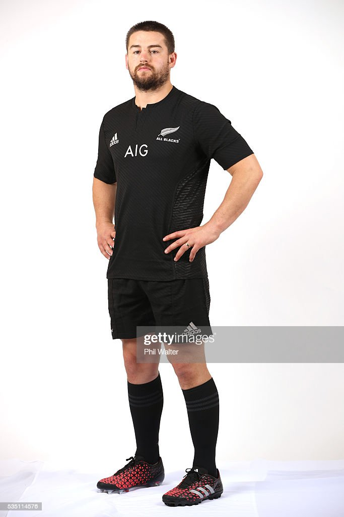 Dane Coles of the All Blacks poses for a portrait during a New Zealand All Black portrait session on May 29, 2016 in Auckland, New Zealand.