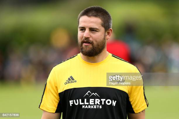 Dane Coles of the Hurricanes looks on during the Super Rugby preseason match between the Hurricanes and the Crusaders at Border Rugby Club on...