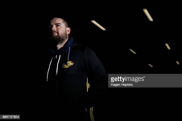 Dane Coles of the Hurricanes walks out of the players tunnel during the round 13 Super Rugby match between the Hurricanes and the Cheetahs at Westpac...