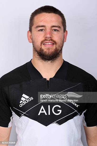 Dane Coles poses during the All Blacks End of Year Tour 2016 Headshots Session at Auckland International Airport Novotel on October 28 2016 in...