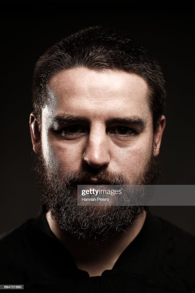 Dane Coles poses for a portrait during the New Zealand All Blacks Headshots Session on June 11, 2017 in Auckland, New Zealand.