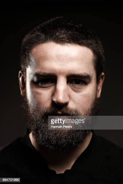 Dane Coles poses for a portrait during the New Zealand All Blacks Headshots Session on June 11 2017 in Auckland New Zealand