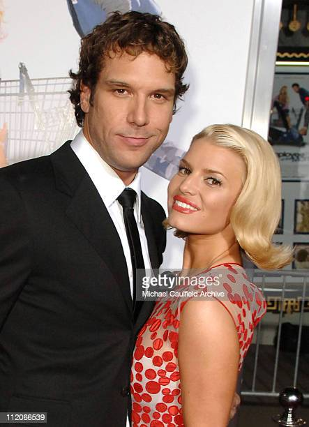 Dane Cook and Jessica Simpson during LionsGate's 'Employee of the Month' Los Angeles Premiere at Mann's Chinese Theater in Hollywood California...