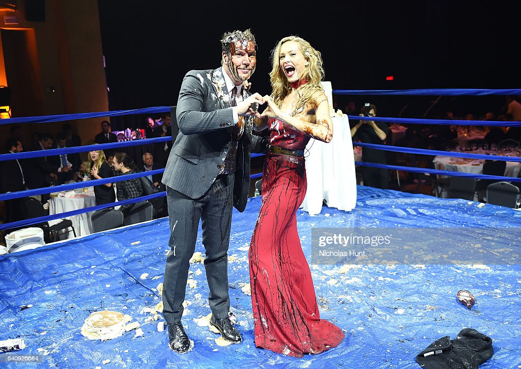 Dane Cook and Petra Nemcova at the Happy Hearts Fund Fight For Education Gala at Hammerstein Ballroom on June 16 2016 in New York City