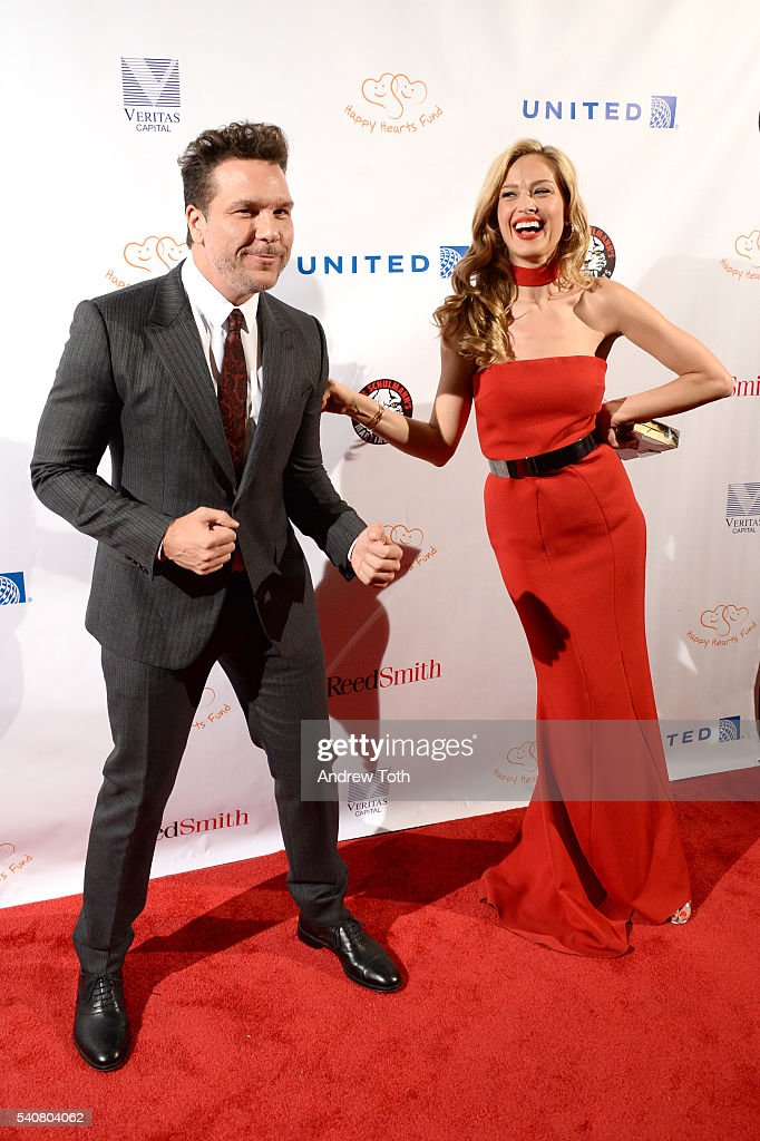 Dane Cook and Petra Nemcova attend the 2016 Happy Hearts Fund Gala at Hammerstein Ballroom on June 16 2016 in New York City