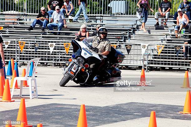 Dane County Sheriff participates in the Police Skills Competition at the Summerfest Grounds to commemorate the HarleyDavidson 110th Year Anniversary...