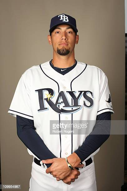 Dane De La Rosa of the Tampa Bay Rays poses during Photo Day on Tuesday February 22 2011 at Charlotte Sports Park in Port Charlotte Florida