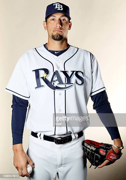 Dane De La Rosa of the Tampa Bay Rays poses for a portrait during the Tampa Bay Rays Photo Day on February 22 2011 at the Charlotte Sports Complex in...