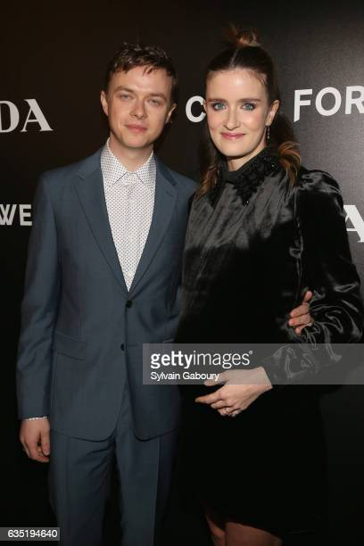Dane Dehaan and Anna Wood attend 20th Century Fox and Prada Host a Screening of 'A Cure for Wellness' on February 13 2017 in New York City