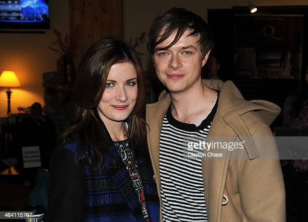 Dane DeHaan and Anna Wood attend The 10th Anniversary LG Music Lodge At Sundance With Elio Motors And Tervis on January 20 2014 in Park City Utah
