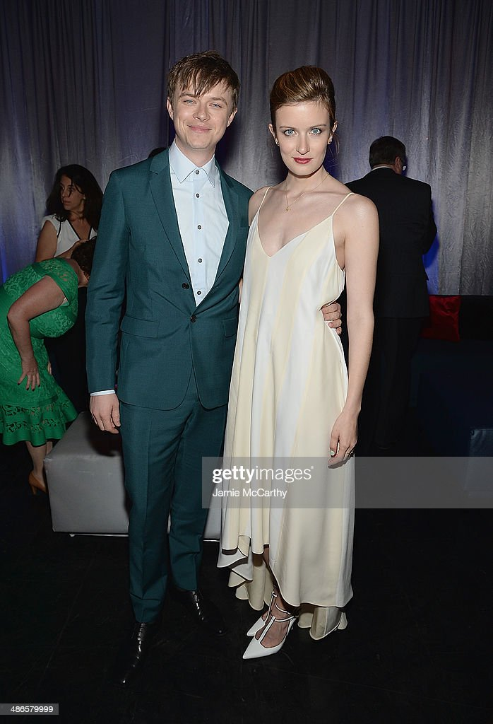 Dane Dehaan and <a gi-track='captionPersonalityLinkClicked' href=/galleries/search?phrase=Anna+Wood&family=editorial&specificpeople=6911245 ng-click='$event.stopPropagation()'>Anna Wood</a> attend the after party for 'The Amazing Spider-Man 2' premiere at Skylight at Moynihan Station on April 24, 2014 in New York City.