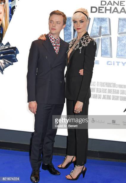 Dane DeHaan and Cara Delevingne attend the European Premiere of 'Valerian And The City Of A Thousand Planets' at Cineworld Leicester Square on July...