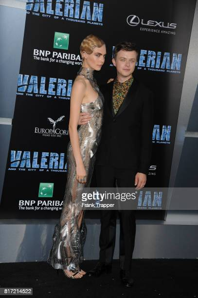 Dane DeHaan and Cara Delevingne attend the premiere of EuropaCorp and STX Entertainment's 'Valerian and The City of a Thousand Planets' held at TCL...