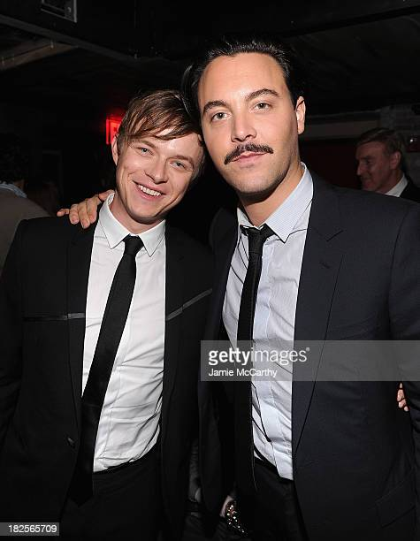 Dane DeHaan and Jack Huston attend The Cinema Society and Johnston Murphy screening of Sony Pictures Classics' 'Kill Your Darlings' after party>> at...