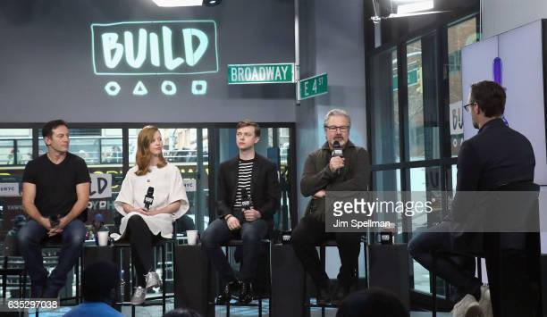 Dane DeHaan Mia Goth Jason Isaacs and director Gore Verbinski attend the Build series to discuss 'A Cure For Wellness' at Build Studio on February 14...