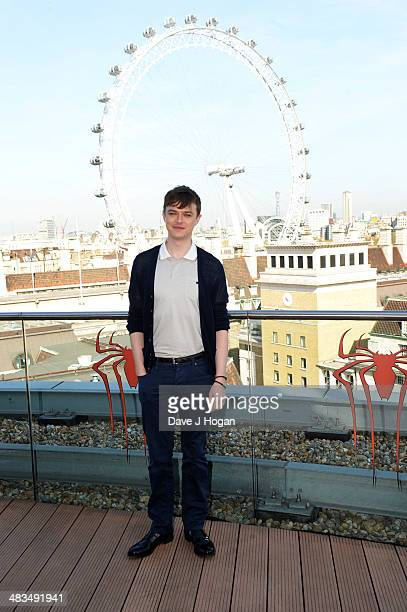 Dane DeHaan poses at a photocall for 'The Amazing SpiderMan 2' at The Park Plaza Westminster Bridge Hotel on April 9 2014 in London England