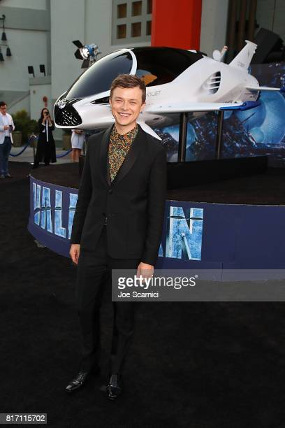 Dane DeHaan poses for a photo with the SKYJET a collaboration by Lexus and EuropaCorp at the World Premiere of Valerian and The City of a Thousand...