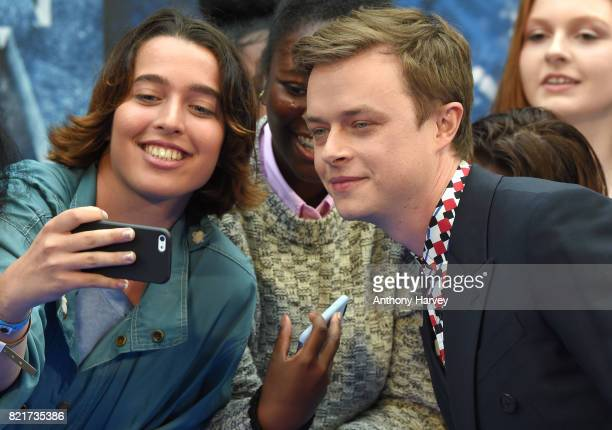 Dane Dehann attends the 'Valerian And The City Of A Thousand Planets' European Premiere at Cineworld Leicester Square on July 24 2017 in London...
