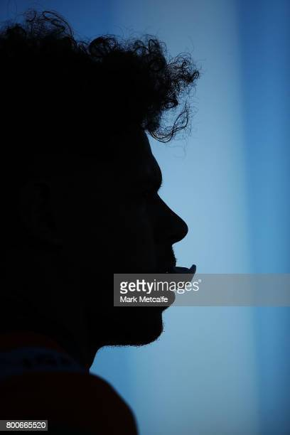 Dane Gagai of the Knights looks on during the round 16 NRL match between the St George Illawarra Dragons and the Newcastle Knights at UOW Jubilee...