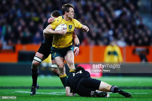 Dane HaylettPetty of the Wallabies charges forward during The Rugby Championship Bledisloe Cup match between the New Zealand All Blacks and the...
