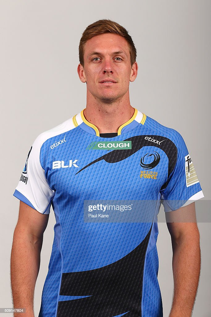 Dane Haylett-Petty poses during the Western Force 2016 Super Rugby headshots session on February 9, 2016 in Perth, Australia.