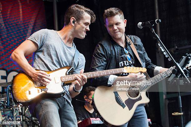 Dane Kinsley and Trent Harmon perform onstage during 'FOX Friends' All American Concert Series outside of FOX Studios on June 24 2016 in New York City