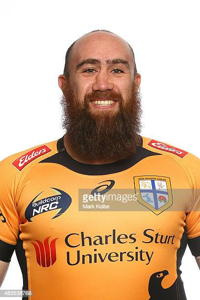 Dane Maraki poses during the NSW Country Eagles Headshots Session at the NSW Rugby Union Offices on August 10 2015 in Sydney Australia