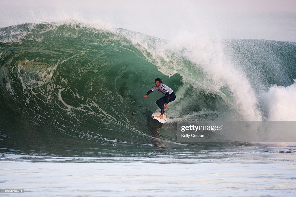 Dane Reynolds of the United States places runner-up in the final of the Quiksilver Pro France on October 5, 2012 in Hossegor, France.
