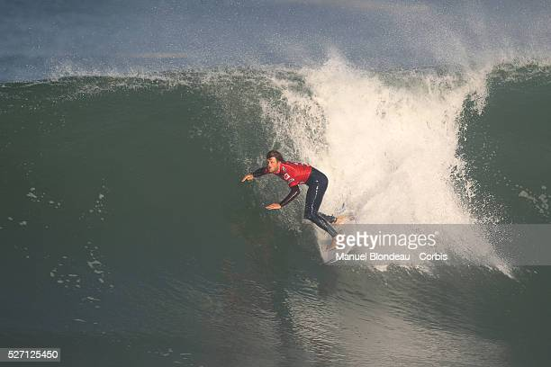 Dane Reynolds of USA surfs during final round at the Quiksilver Pro France which is part of the ASP Men's World Champion Tour of Surfing on October 5...