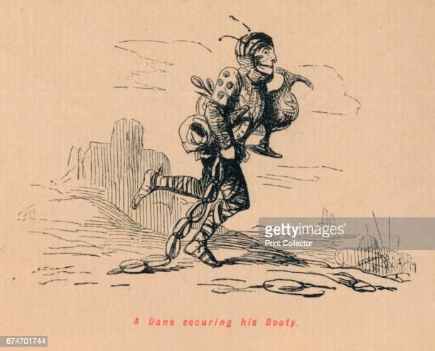 A Dane securing his Booty' c1860 From The Comic History of England Volume I by Gilbert A A'Beckett [Bradbury Agnew Co London] Artist John Leech