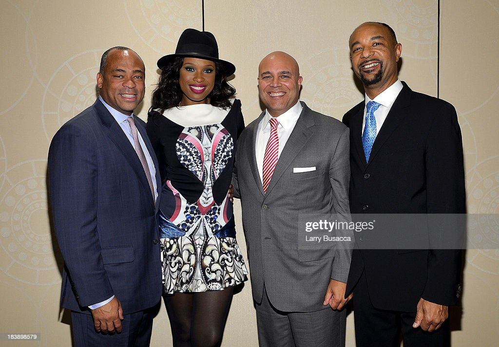 Dane Snowden, <a gi-track='captionPersonalityLinkClicked' href=/galleries/search?phrase=Jennifer+Hudson&family=editorial&specificpeople=234833 ng-click='$event.stopPropagation()'>Jennifer Hudson</a>, Michael Powell and David Porter attend the 30th Annual Walter Kaitz Foundation Fundraising Dinner at The New York Marriott Marquis on October 9, 2013 in New York City.