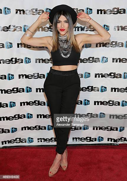 Danella Urbay is seen backstage during El Nuevo Zol Miami Bash at the AmericanAirlines Arena on April 10 2015 in Miami Florida