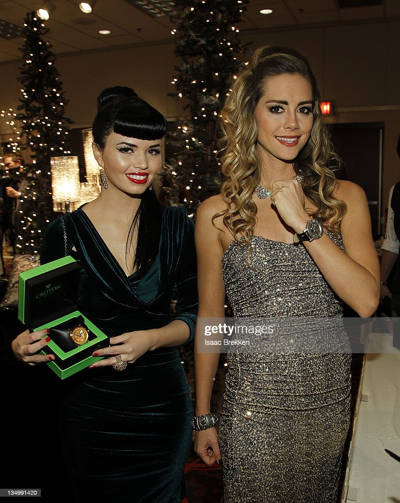 Danelle Leverett (R) and Susie Brown attend the Backstage Creations celebrity retreat during the American Country Awards at the MGM Grand Garden Arena on Dec. 5, 2011 in Las Vegas, Nevada.