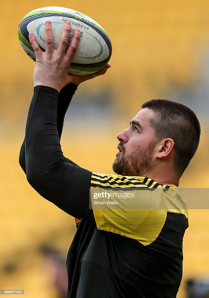 Danes Coles of the Hurricanes during the Hurricanes Super Rugby Captain's Run at Westpac Stadium on August 5 2016 in Wellington New Zealand