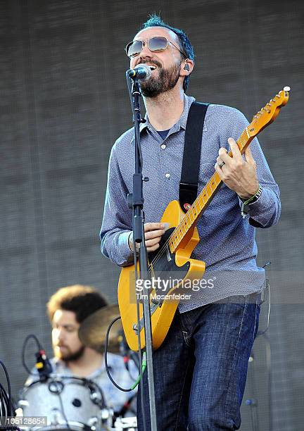 Danger Mouse and James Mercer of Broken Bells perform as part of the Austin City Limits Music Festival at Zilker Park on October 9 2010 in Austin...