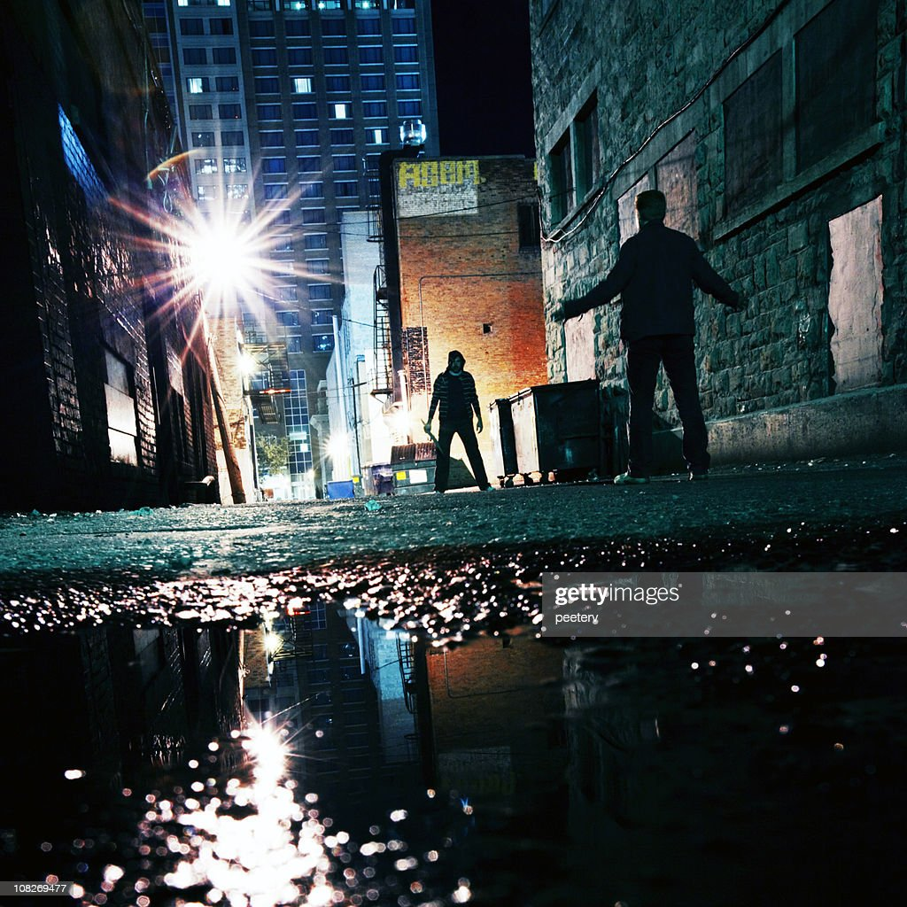 dangerous alley : Stock Photo