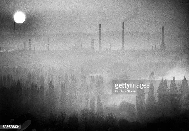 Dangerous gases spew from the industrial smokestacks of Katowice in Poland cloud the region of more than 4 million inhabitants in October 1989 Carbon...