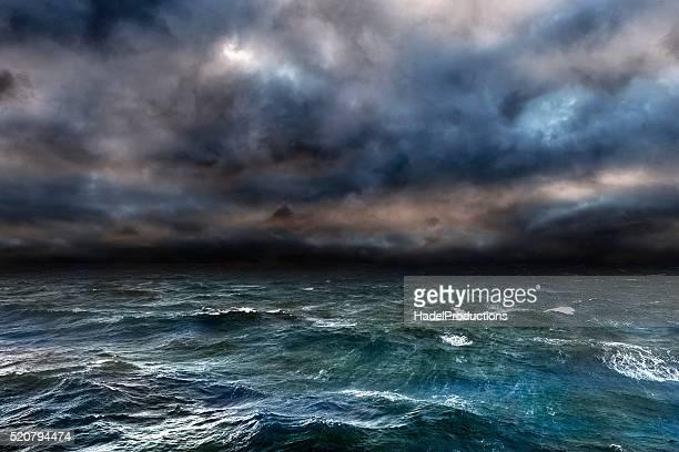 Dangerous storm over ocean