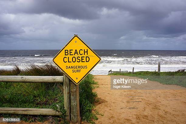 Dangerous Surf- Beach Closed