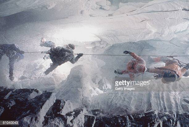 Dangling In A Treacherous Ice Cave In The 'Dead Zone' Above 26000 Feet Peter Garrett Struggles To Pull Sister Annie To Safety While Montgomery Wick...