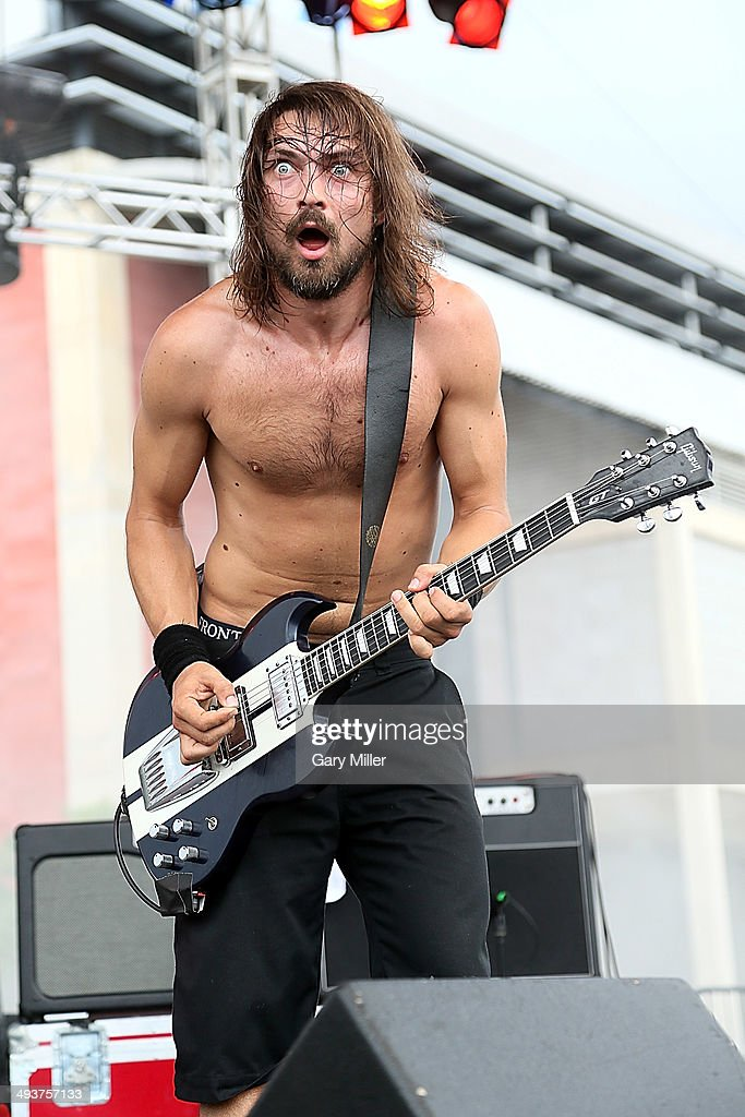 Dango performs in concert with Truckfighters during the River City RockFest at the at&t Center on May 24, 2014 in San Antonio, Texas.