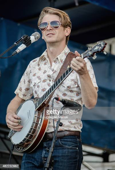 Dango Rose of Elephant Revival performs during the Newport Folk Festival 2015 at Fort Adams State Park on July 24 2015 in Newport Rhode Island